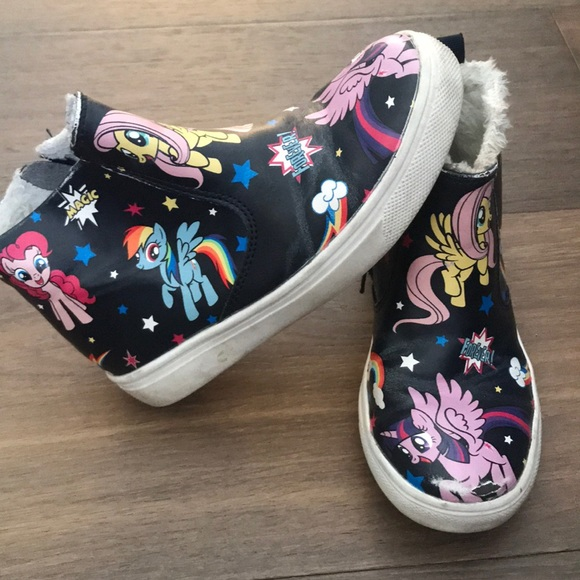 3ac7d9508298 H M Other - HM Girls Black My Little Pony High Top Sneakers